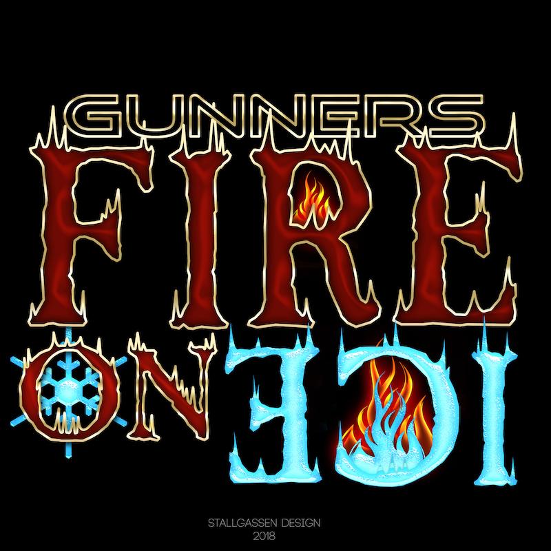 Logo Gunners Fire on Ice